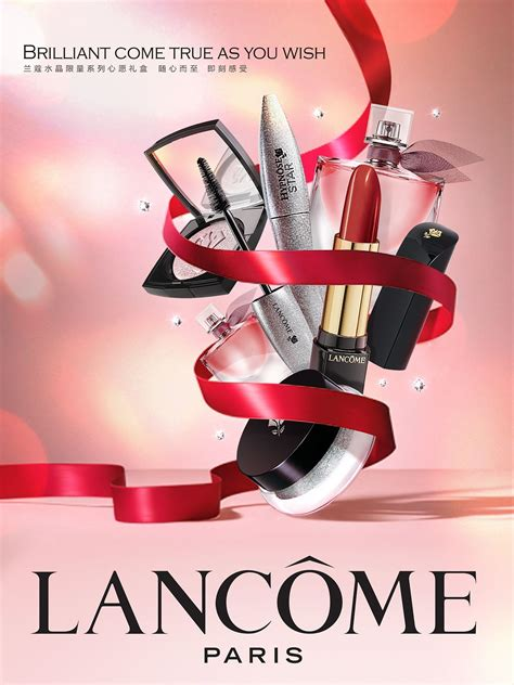 design poster cosmetic promotion key visual for lancome on behance festival