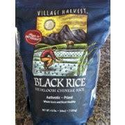 black rice calories village harvest black rice calories nutrition analysis