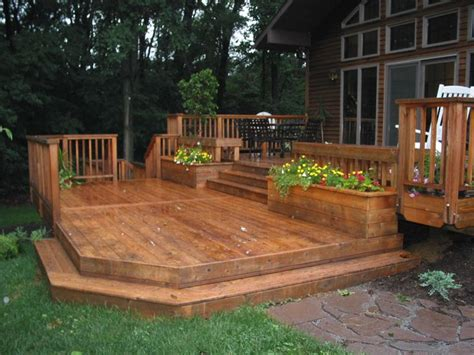 Backyard Decking Ideas Ground Level Deck Patio Home