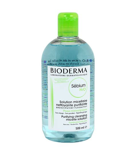 Bioderma Sebium H2o 500 Ml bioderma sebium h2o solution micellaire 500ml la vie en