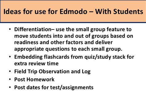 edmodo keeps logging me out edmodo training 7 mobile apps and ideas for edmodo use