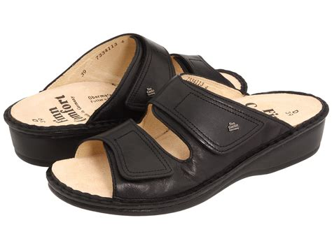comfortable clogs with heels finn comfort jamaica 2519 black nappa soft footbed