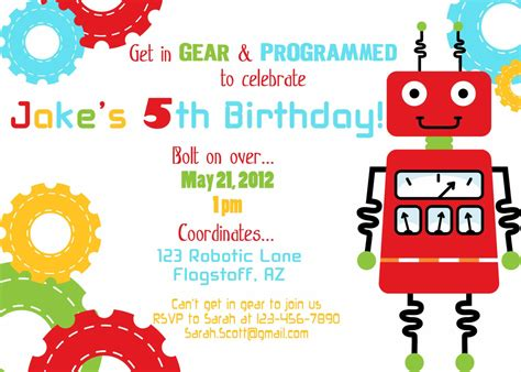 printable robot stationery printable robot birthday party invite diy by luvbugdesign