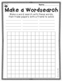create your own word search template 25 best ideas about spelling activities on