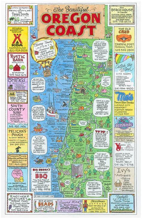 a map of oregon coast maps usa