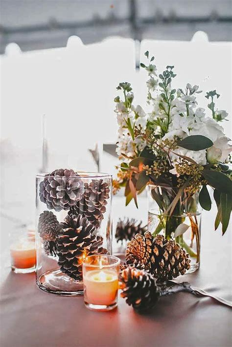 rustic centerpieces for wedding table best 25 winter wedding centerpieces ideas on
