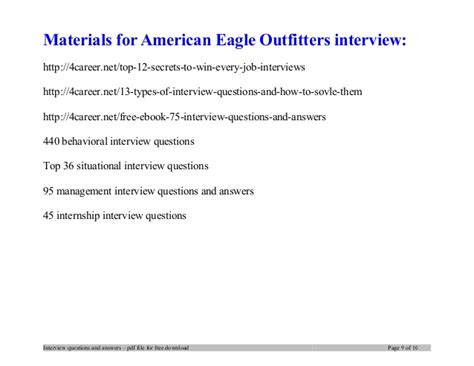 outfitters cover letter american eagle outfitters questions and answers