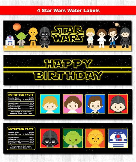 printable star wars drink labels 67 best images about star wars birthday on pinterest