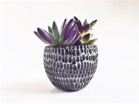 Black Ceramic Planter Black Ceramic Planter Ceramics And Pottery By Potterylodge