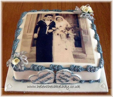 70th platinum wedding anniversary cake a special occa flickr
