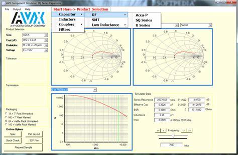 avx capacitor simulation avx component simulator