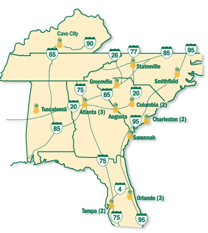 map usa southern states cities 2006 for southeast cities page 3 skyscrapercity