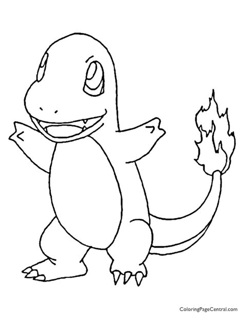 pokemon charmander coloring page 01 coloring page central