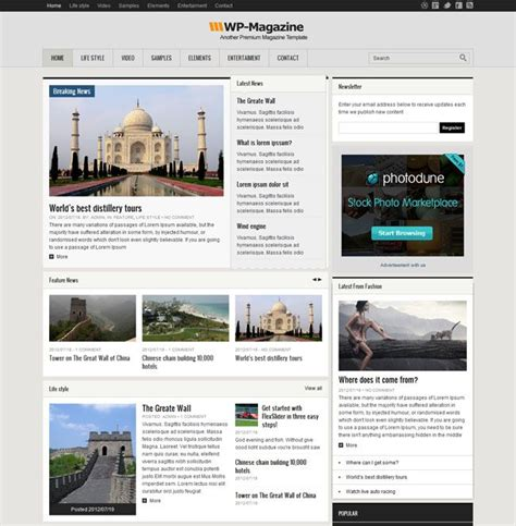 wordpress themes not blog this is a really cool wordpress theme that is not only for