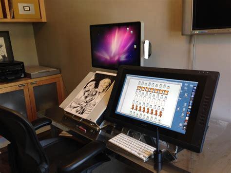 desk for digital artist workspaces chen book