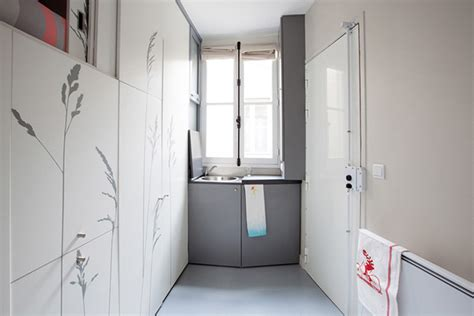 8 square meters this 8 square meter apartment in paris features everything