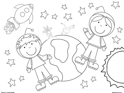 coloring pages outer space free 2 coloring pages boy and girl astronaut outer space