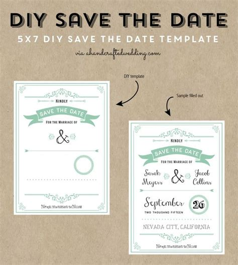 diy save the date magnets template the world s catalog of ideas