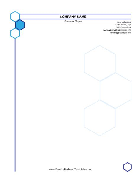 business stationery templates free hexagonal business letterhead