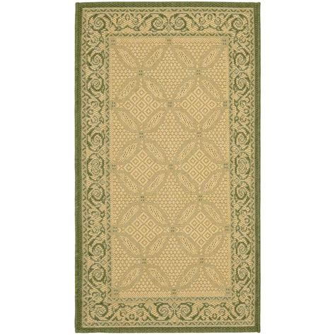 Safavieh Courtyard Olive Natural 2 Ft X 3 Ft 7 In Outdoor Rugs Home Depot