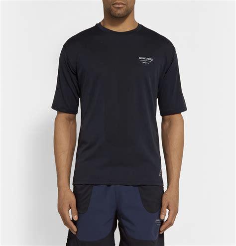 Tshirtt Shirtkaos Nike Run Blue lyst nike gyakusou dri fit running t shirt in blue for