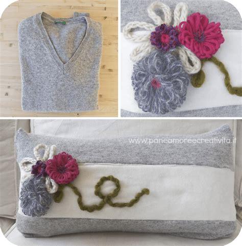 creare un cuscino tutorial di cucito il maglione riciclato diventa un