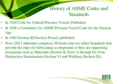 asme code section v development of asme codes and standards