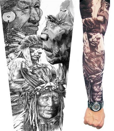 indian arm tattoo designs indian braves sleeve tattoos flickr photo