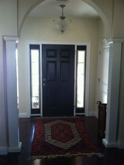 Paint Inside Front Door Black Front Door W Sidelights Front Doors Interiors And Doors