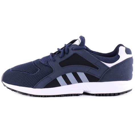adidas racer lite adidas racer lite mens synthetic mesh trainers in navy white