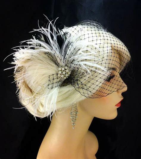 Feather Wedding Veil fascinator bridal feather fascinator bridal headpiece