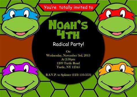 printable invitation mutant turtles by atomdesign mutant turtles