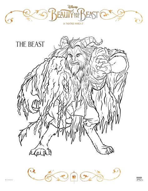 Printable Version Of Beauty And The Beast   sasaki time beauty and the beast 2017 coloring sheets
