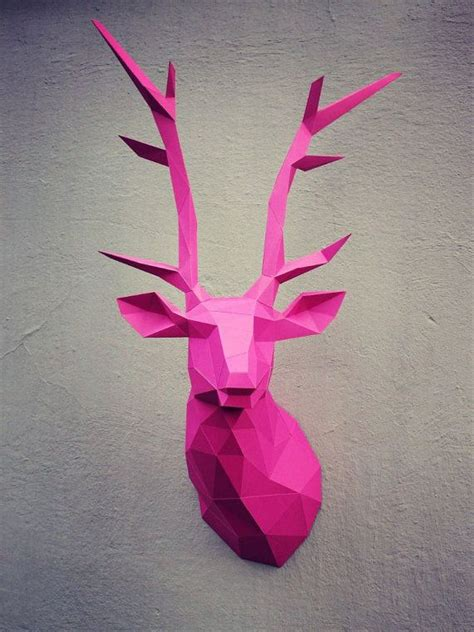 diy cardboard deer template papercraft deer printable diy template by