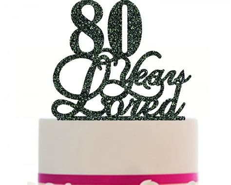 80 years of color books 80th birthday anniversary cake topper personalized 80