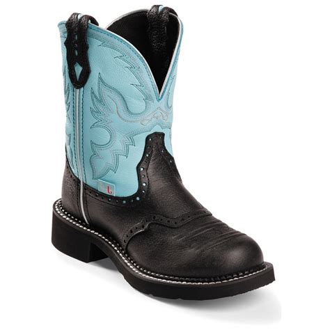 black justin boots justin boots collection black deer cow black casual