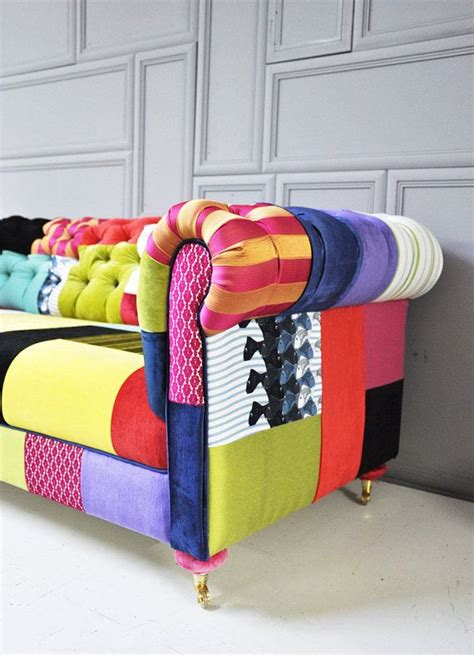 Funky Chesterfield Sofa by Colorful Chesterfield Patchwork Sofa By Namedesignstudio