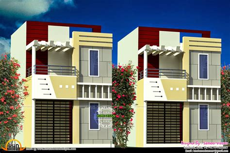 row housing designs kerala home design and floor plans row house design