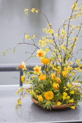 daffodils in flower arrangements forsythia tulips