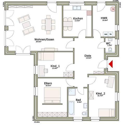 Bungalow 140 Qm by Grundriss Bungalow 140 Mit Garage Emphit