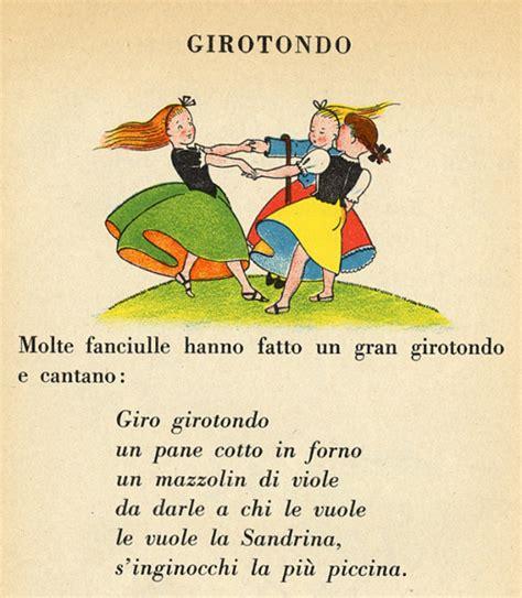 girotondo testo girotondo canzoncina tradizionale per bambini