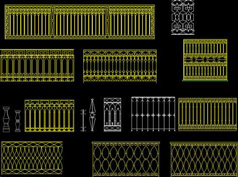 barandilla bloque autocad planos de barandas de balcones en dwg autocad balcones