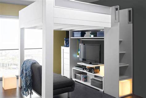 faberk design lit mezzanine 1 place blanc 5