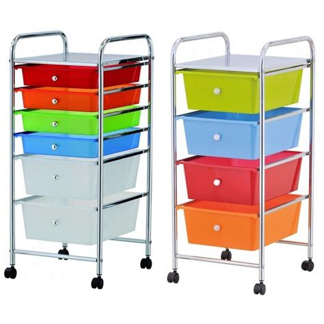 4 drawer cart with wheels home office chrome 4 drawer storage cart trolley with