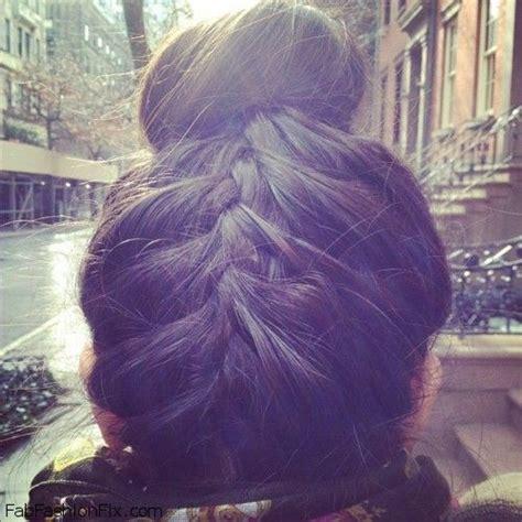 how to do an upside down french braid bun hair upside down french braid bun hairstyle tutorial