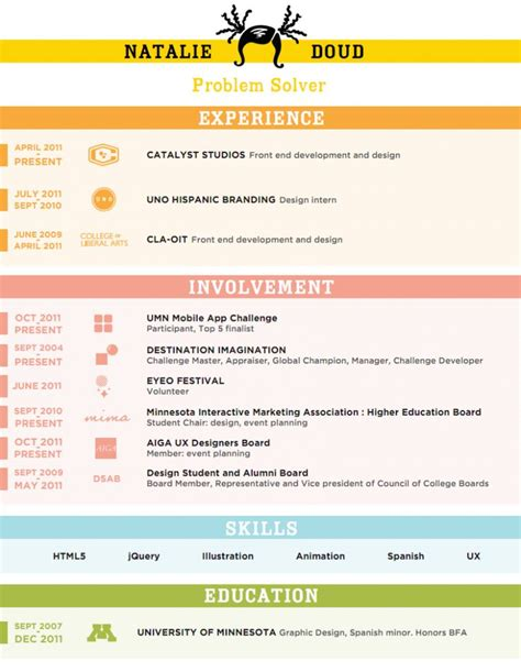 Creative Resume Ideas by 43 Best Creative Resume Ideas Images On