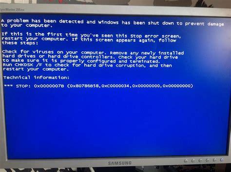 windows 7 bsod 0x0000007b 0x80786b58 0xc0000034 hang after starting windows sign windows 7 help forums