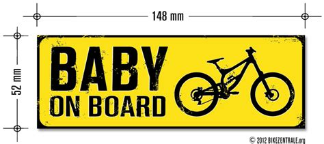 Auto Aufkleber Mtb by Mtb Bikepark Aufkleber Quot Baby On Board Quot