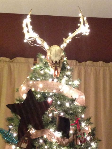 deer skull tree topper christmas pinterest