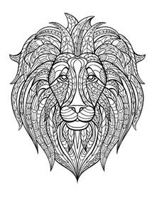 detailed lion coloring pages free coloring page coloring adult africa lion head lion